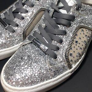 ALESSANDRO DELL'ACQUA Glitter Fashion  Sneakers